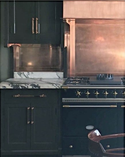 Rustic Copper Metal Backsplash Ideas