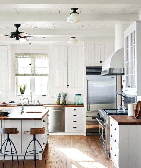 Rustic Country Kitchen Ideas White Cabinets