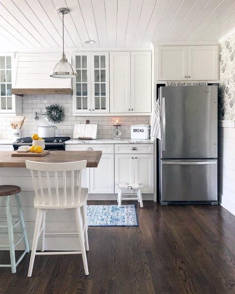 Rustic Country White Kitchen Ideas