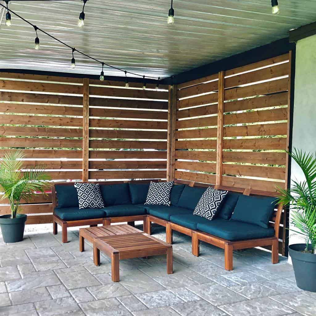 rustic covered patio ideas chaletchevrefeuille