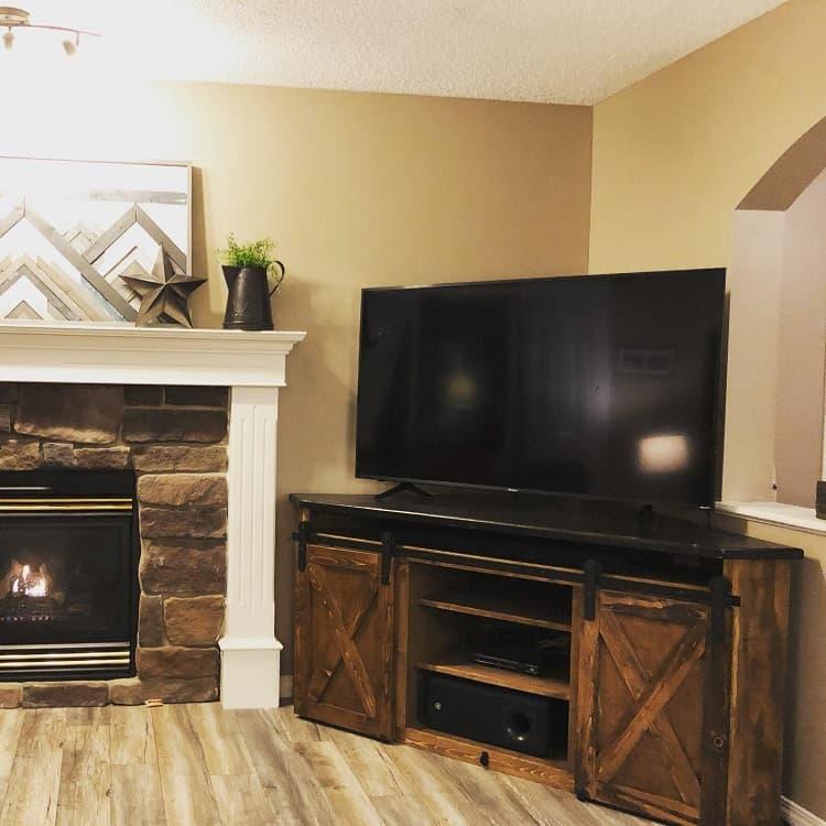 Rustic Decor Corner Entertainment Cabinets Wheatontrevor