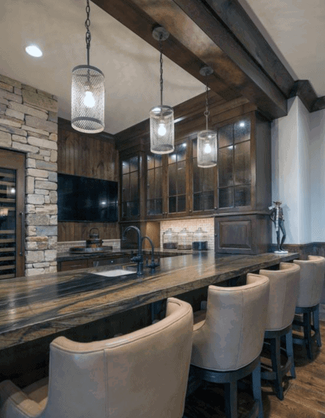 Rustic Design Home Bar