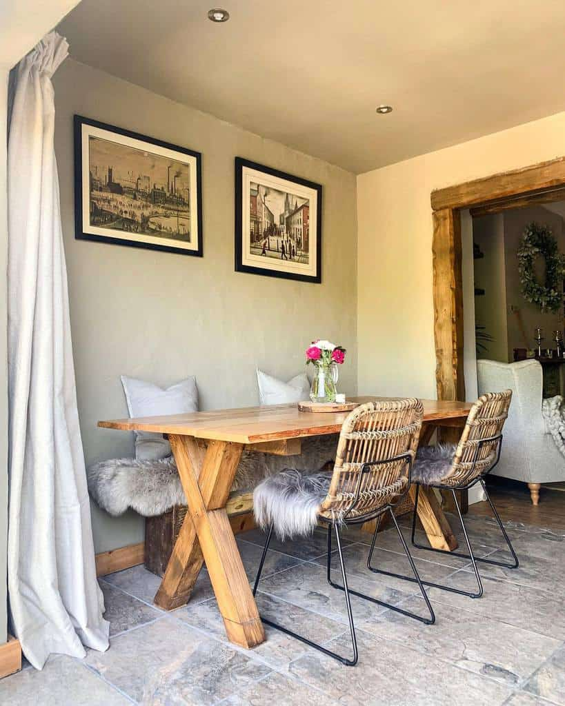 rustic dining room ideas waney_cottage