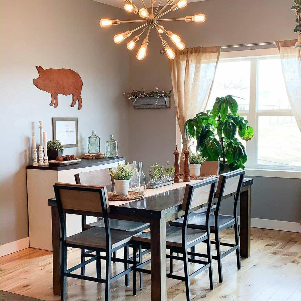rustic dining room wall decor ideas aps_design