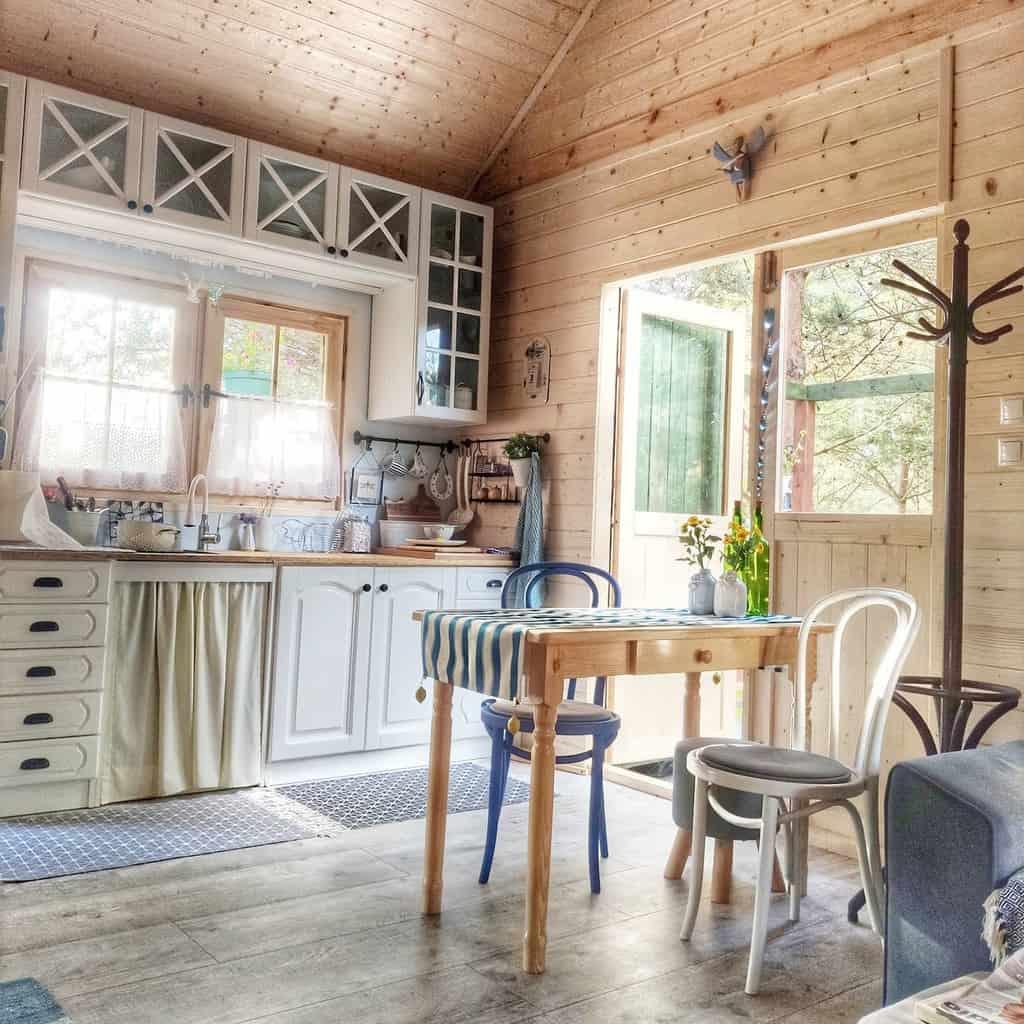rustic dining room wall decor ideas wymarzony.domek_lesne.wyro
