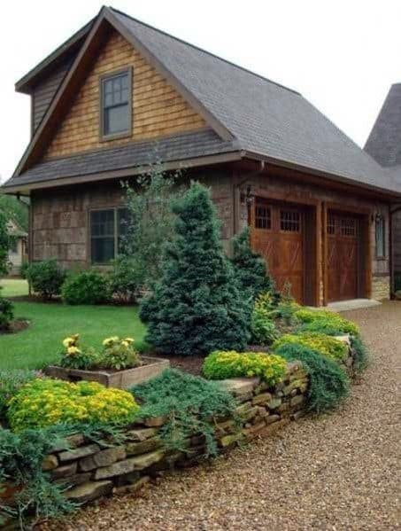 Rustic Driveway Landscaping Ideas Gravel