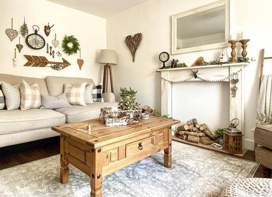 Rustic Farmhouse Farmhouse Living Room Ideas