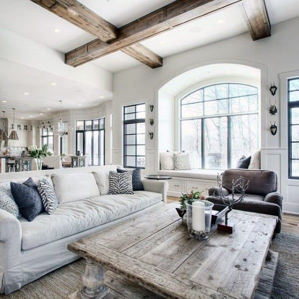 Top 60 Best Rustic Living Room Ideas Vintage Interior Designs