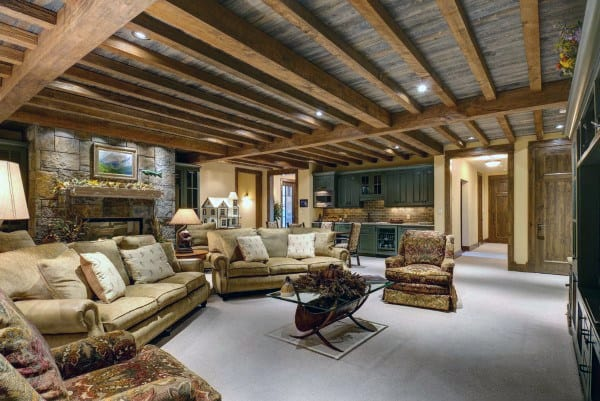 Rustic Finished Basement Ideas