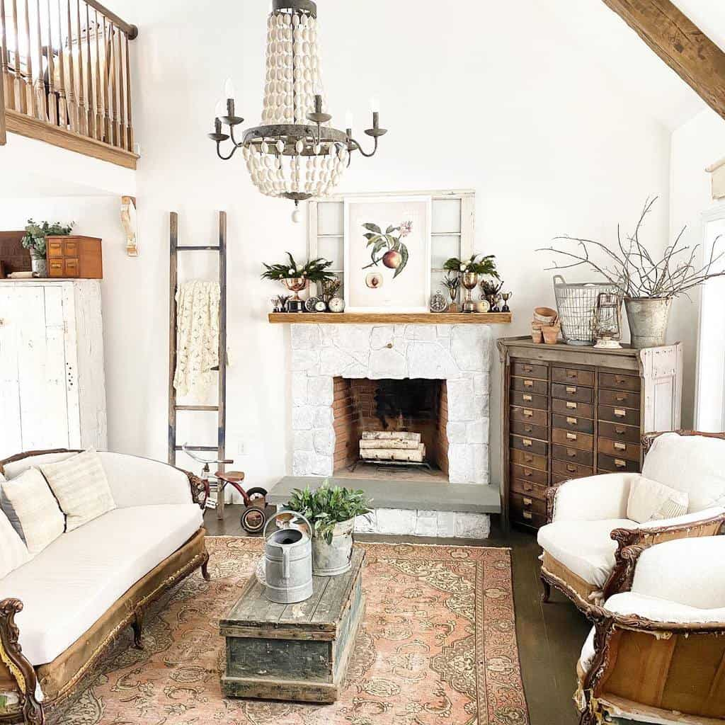 rustic fireplace wall ideas thelittlewhitefarmhouse