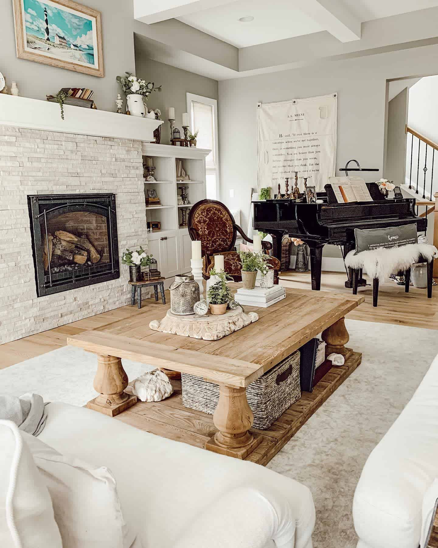 Rustic Furniture Farmhouse Living Room Ideas Thehomeenvy