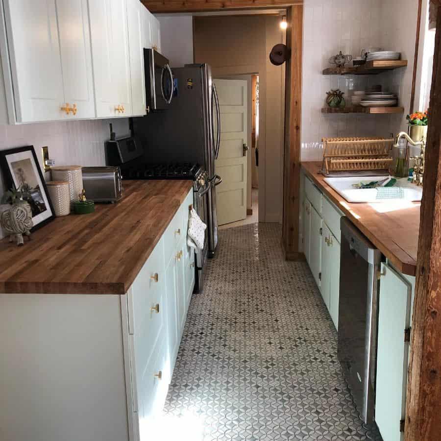 rustic galley kitchen ideas carolynlake
