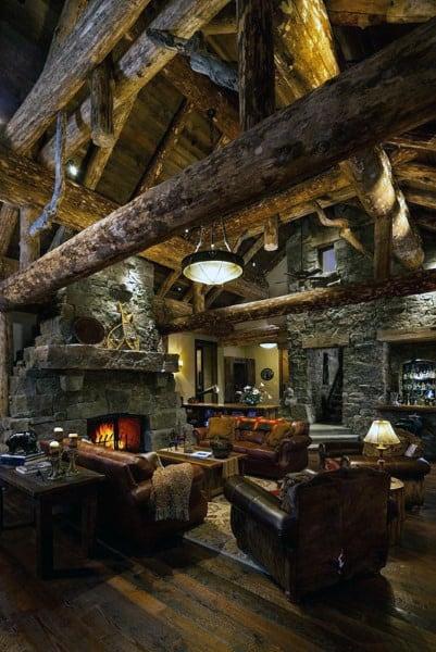 Rustic Great Room Design Ideas