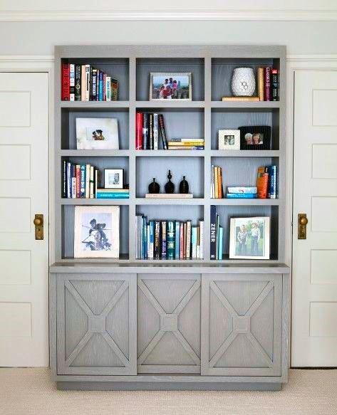 Rustic Grey Bookshelf Ideas
