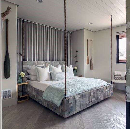 Rustic Hanging Bed Ideas For Bedroom