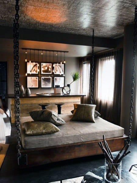 Rustic Hanging Bed Ideas