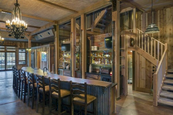 Rustic Home Bar Designs
