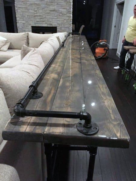 Rustic Home Bar Seating Area