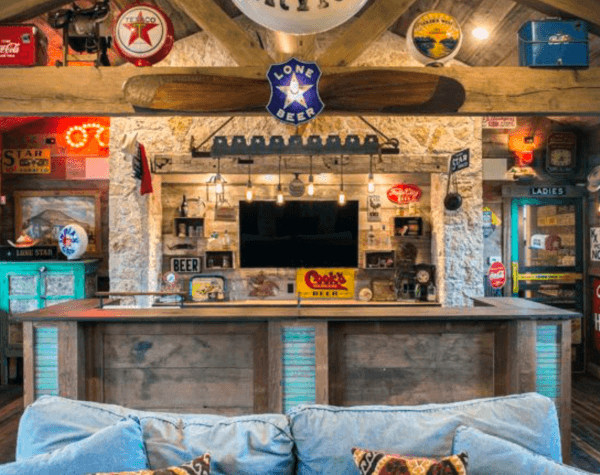 Rustic Home Basement Bar Decor Ideas