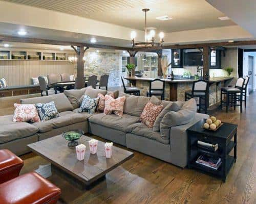 Rustic Home Basement Interiors