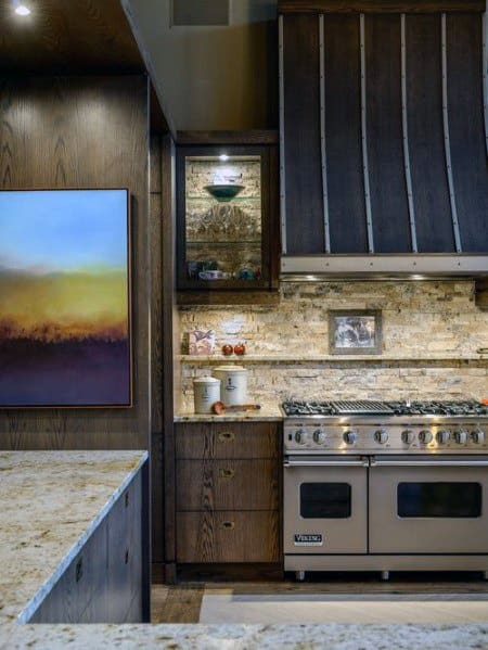 Rustic Home Stone Backsplash Ideas