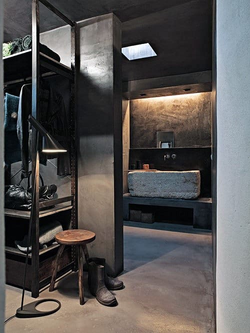 Rustic Industrial Mens Walk In Closet