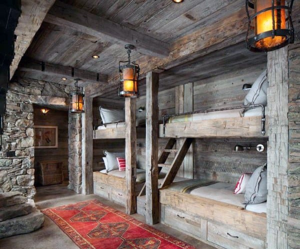 Rustic Interior Bunk Bed Ideas