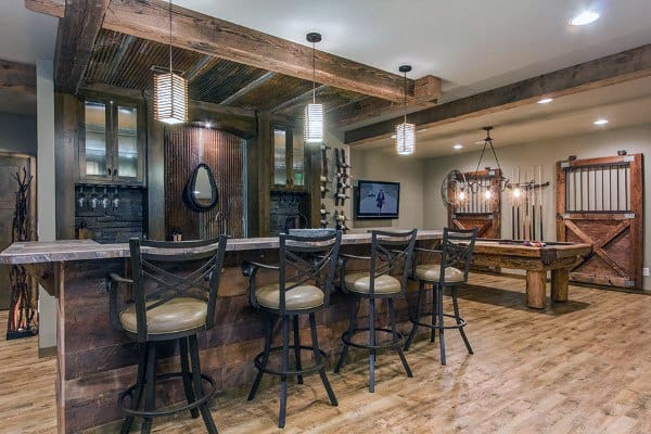 Rustic Interior Ideas For Basements