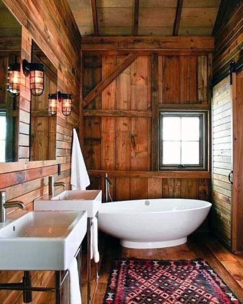 Rustic Interior Ideas For Bathrooms