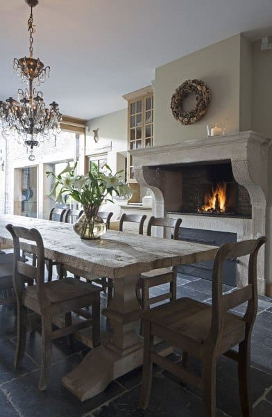 Rustic Interior Ideas For Dining Rooms
