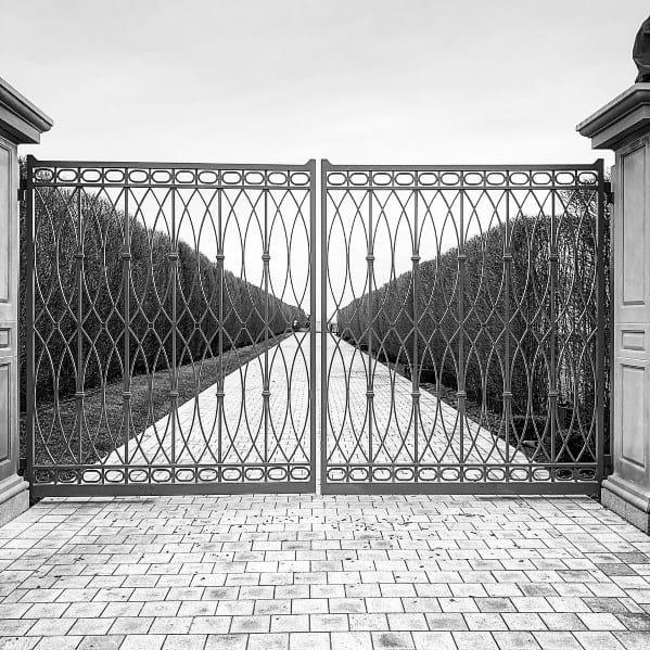 Rustic Iron Driveway Gate Ideas