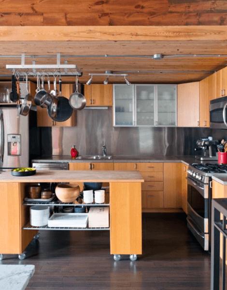 Rustic Kitchen Designs Metal Stainless Steel Backsplashs