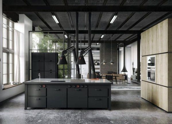 Marvelous Rustic Kitchen Ideas Industrial Interior Design