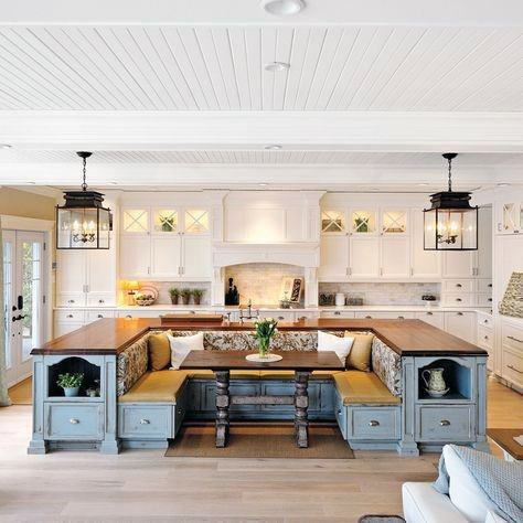 Rustic Kitchen Island Large Breakfast Nook Designs