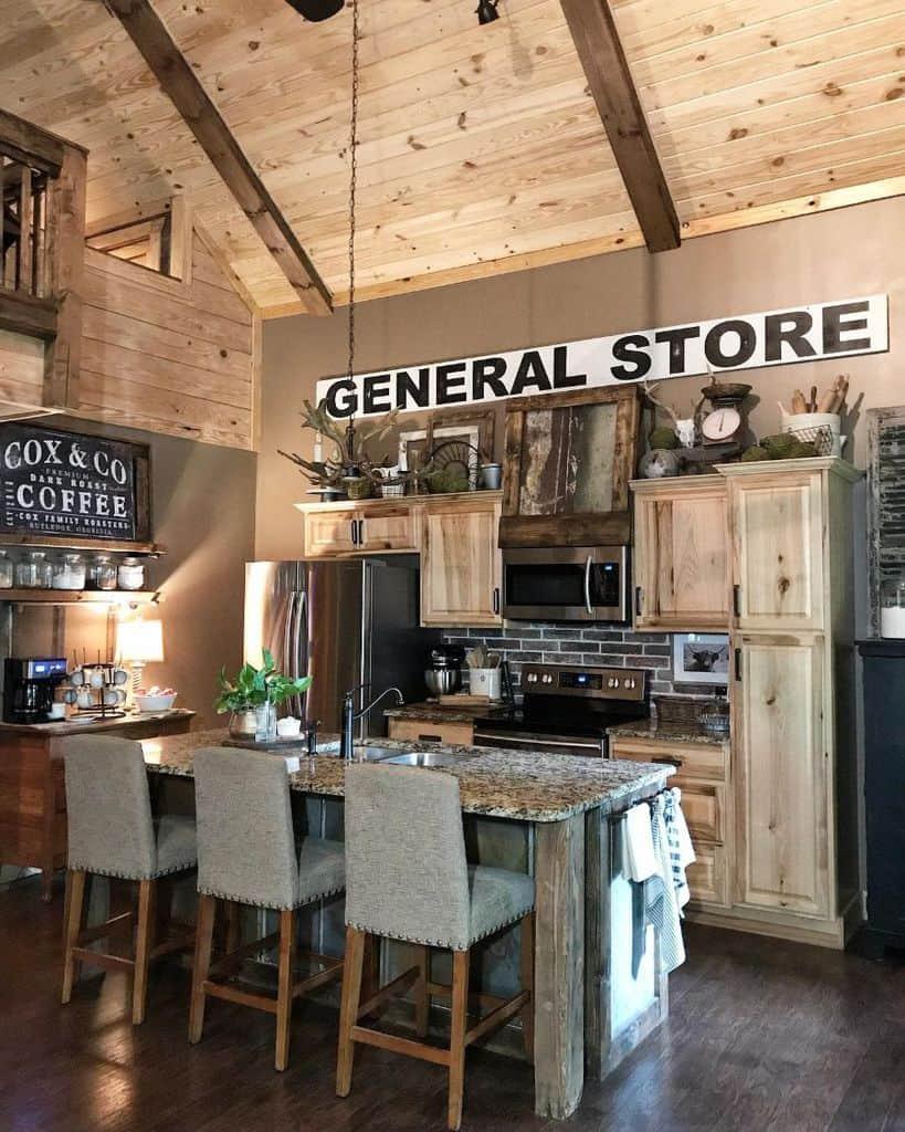 rustic kitchen wall decor ideas shady_pines3interiors