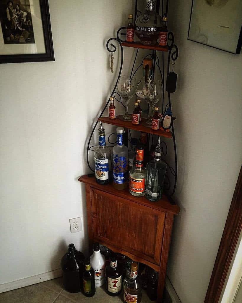 rustic liquor cabinet ideas jamarstallstylist
