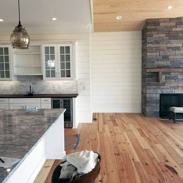 Rustic Living Room Design Ideas For Stacked Stone Fireplace