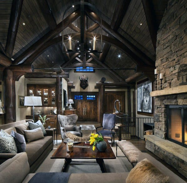 Rustic Living Rooms: Top 60 Best Rustic Living Room Ideas