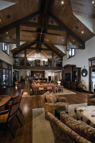 Top 60 Best Rustic Living Room Ideas - Vintage Interior Designs