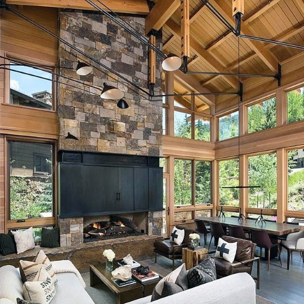 Rustic Interior Design Ideas Living Room: Top 60 Best Rustic Living Room Ideas