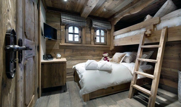 Rustic Log Cabin Bunk Bed Ideas