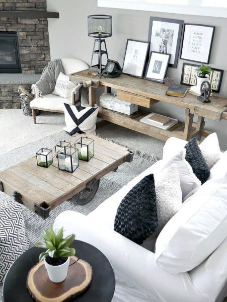 Rustic Luxe Living Room Design Ideas