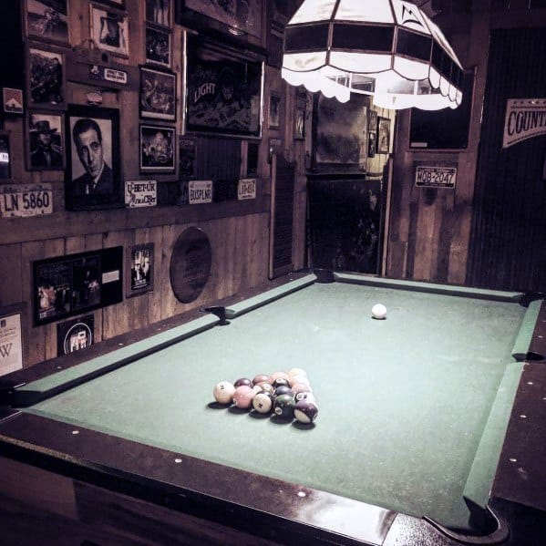 Rustic Man Cave Billiards Room Ideas