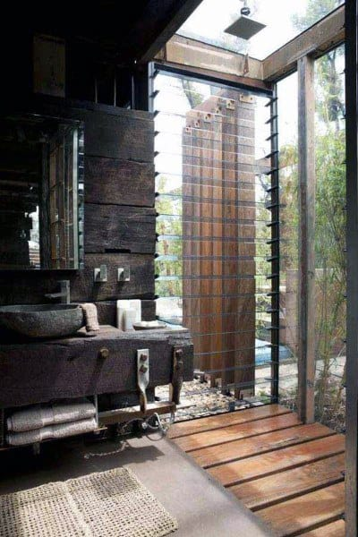 Rustic Master Bathroom Ideas With Glass Shower