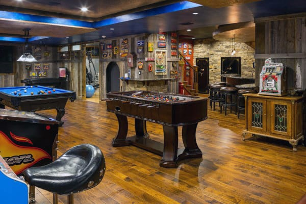 Rustic Mens Game Room Designs