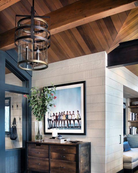 Rustic Metal Foyer Lighting Design Ideas