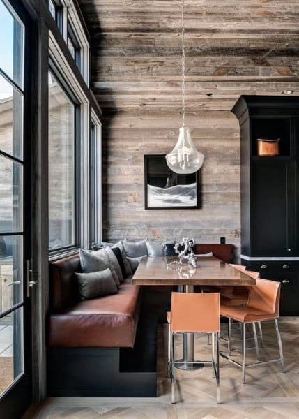 Rustic Modern Wood Breakfast Nook