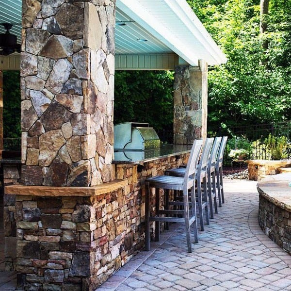 40 Cool Rustic Bar Design: Top 50 Best Backyard Outdoor Bar Ideas