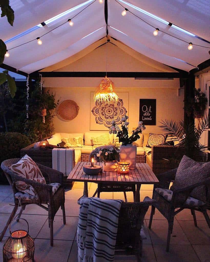 rustic patio lighting ideas skovbon