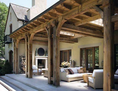Rustic Slavaged Barn Wood Pergola Home Design Ideas Patio Roof